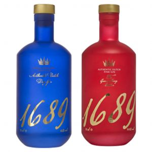 Gin 1689 Dutch Dry and Pink Gin Twin Pack 2 x 70cl