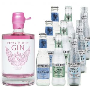 58 Gin Pink Apple & Hibiscus en Fever-Tree Tasting Pack