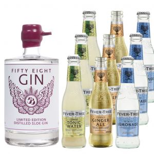 58 Gin Distilled Sloe en Fever-Tree Proefpakket