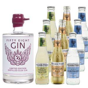 58 Gin Distilled Sloe Gin en Fever-Tree Proefpakket