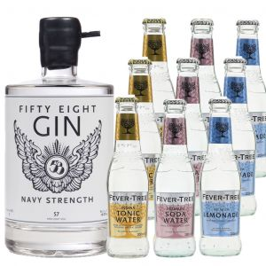 58 Gin Navy Strength en Fever-Tree Proefpakket