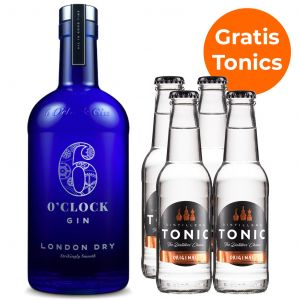 6 O'Clock London Dry Gin 70cl Promopakket