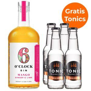 6 O'Clock Mango, Ginger & Lime Gin 70cl Promopakket