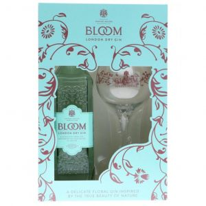 Bloom Premium London Gin 70cl & Copa Glass Gift Pack