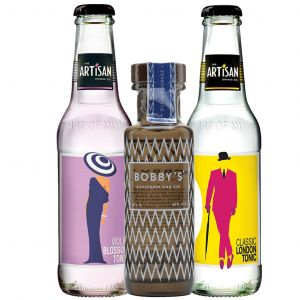 Bobby's Schiedam Dry Gin 10cl and The Artisan Drinks Co Tonic Tasting Pack