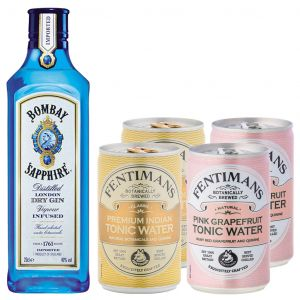 Bombay Sapphire Gin 20cl & Tonic Pack