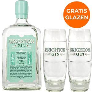 Brighton Gin Pavilion Strength 70cl Promopakket
