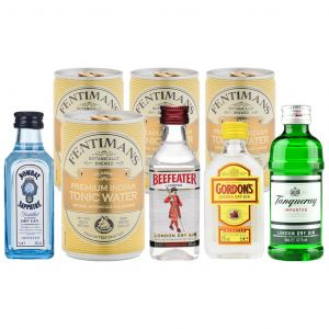 4 Classic Gins and Fentimans Tonics Tasting Pack