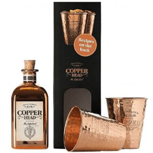 Copperhead Gin 50cl & Cups Giftbox