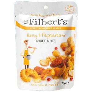 Mr Filberts Mixed Nuts Honey & Peppercorn 50g