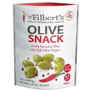 Mr Filbert's Olive Snack Chilli & Black Pepper 65g