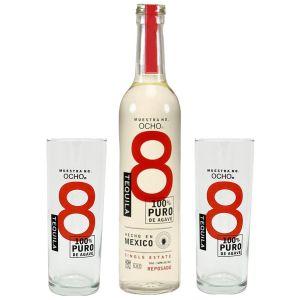 Ocho Tequila Reposado 50cl Promo Pack