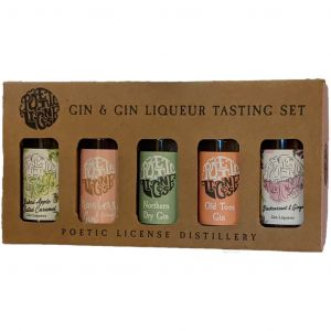 Poetic License Gin & Gin Liqueur Tasting Set 5 x 5cl