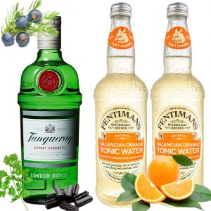 Tanqueray Gin en Fentimans Orange Tonic Pakket 70cl & 2 x 500ml