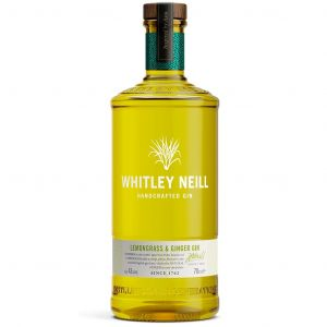 Whitley Neill Handcrafted Lemongrass & Ginger Gin 70cl