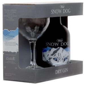 Wild Snow Dog Dry Gin 70cl Cadeaupakket