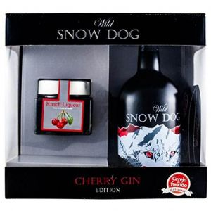 Wild Snow Dog Cherry Gin 70cl Giftbox