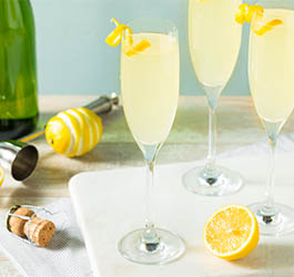 Wijn cocktail - French 75