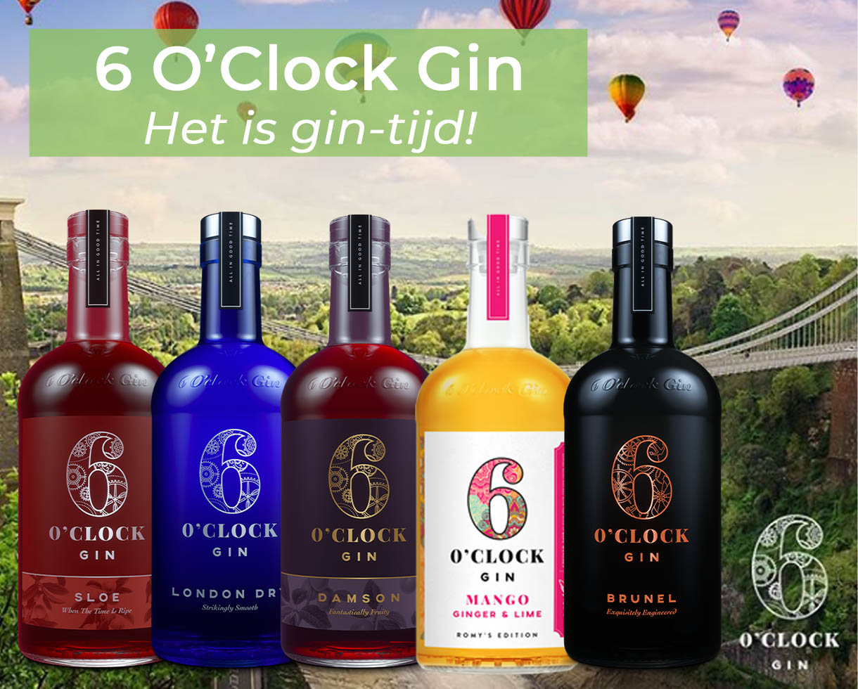 6 O'Clock Gin - Het is gin-tijd