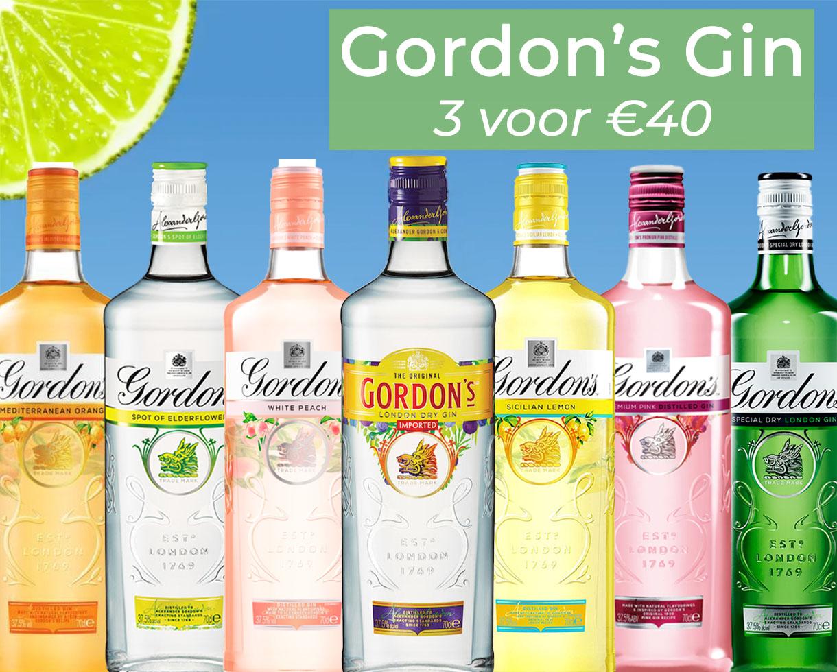 Gordons 3 voor €40