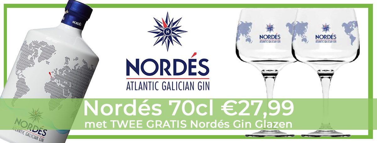 Nordés Gin 70cl & Gratis Glazen Pakket